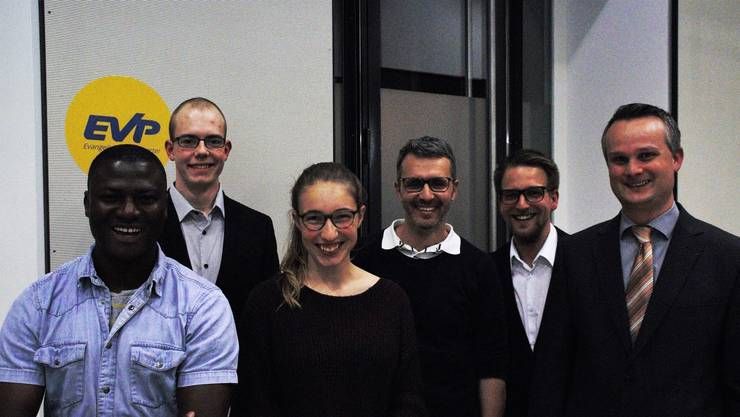 v.l.n.r.: Ferenkeh Tarawally, Nathan Graf, Alisha Steiner, Beat Bachmann, Elia Leiser und André Wyss