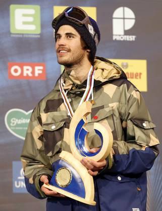 Der 24-jährige Walliser Yannic Lerjen mit der Bronzemedaille.