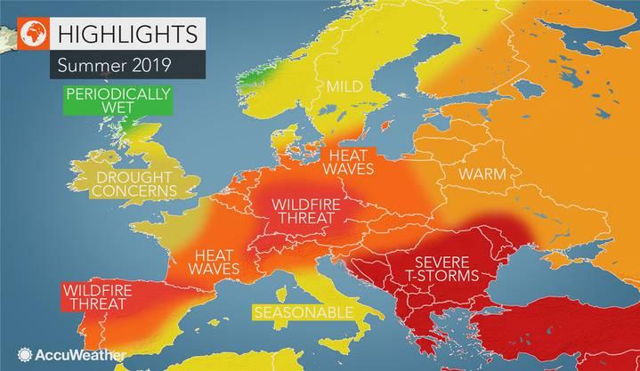 Umstrittene Prognose: Laut US-Wetterdienst wird es heiss in Europa.