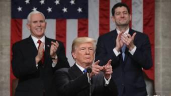 Donald Trump während seiner «State of the Union»-Rede in Washington. Dutzende Male unterbrach Applaus seine Ansprache.