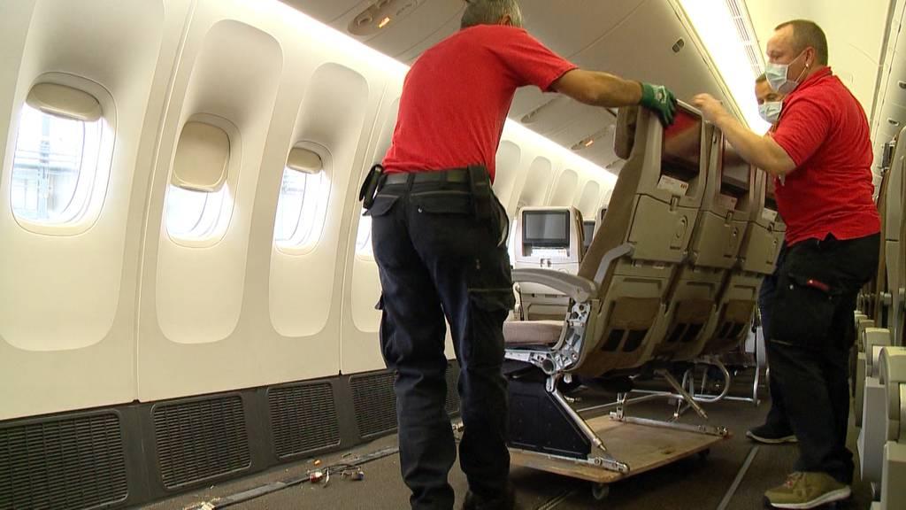 Vom Passagierflugzeug zum Frachtflugzeug: Die Swiss baut um