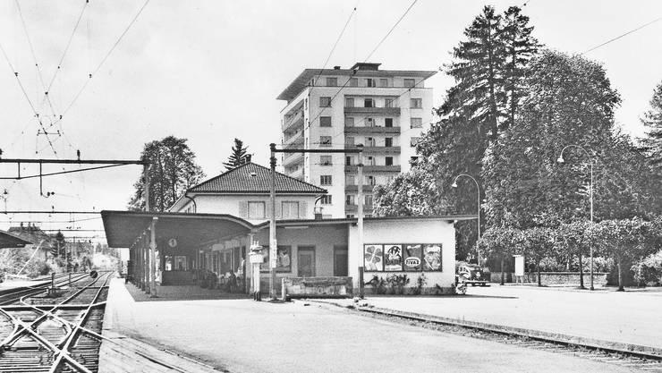 Am Südbahnhof kündigten damals noch Läutwerke (Bildmitte) die Züge an.