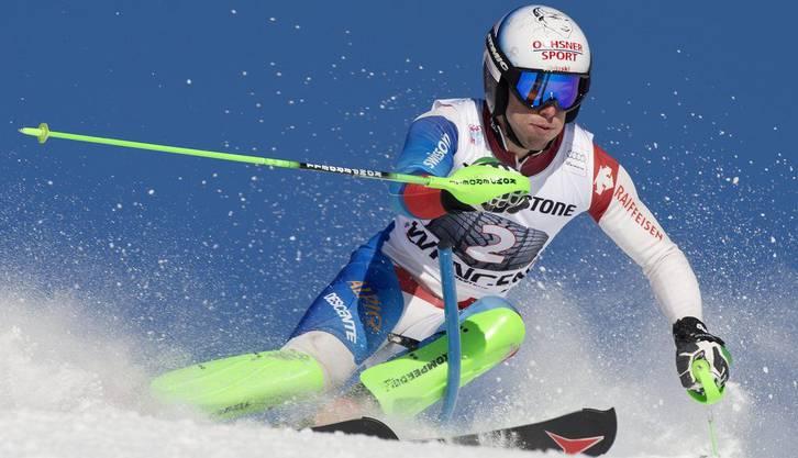 Der Bündner machte auch im Slalom eine gute Figur