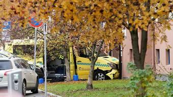 Die Polizei in Oslo konnte den Bewaffneten im rasenden Krankenwagen stoppen und verhaften.