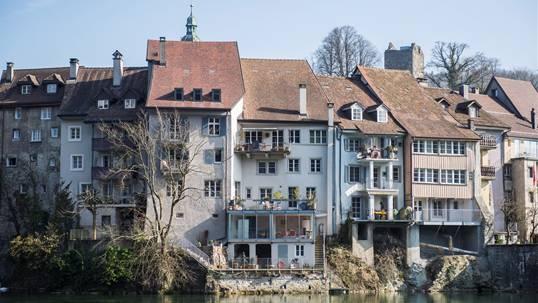 Vor 100 Jahren wurden rund 300000 Kubikmeter Fels in Laufenburg gesprengt. Der Wasserpegel des Rheins stieg damit um rund 10 Meter. Mathias Marx
