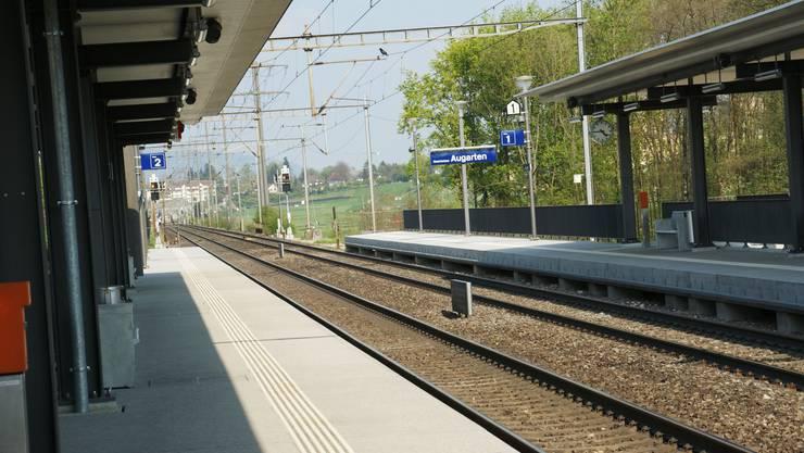 Der neue Bahnhof beim Augarten fordert 2008 die grösste Investition der Einwohnergemeinde (ach)