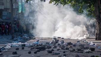 Bei Protesten in Haiti ist erneut ein Mensch getötet worden.