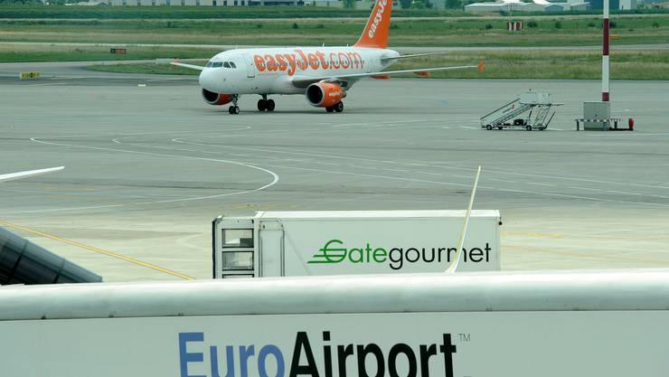 Fliegen die 250 Basler Easyjet-Arbeitsplätze bald nach Berlin oder Madrid?  Archiv Kenneth Nars