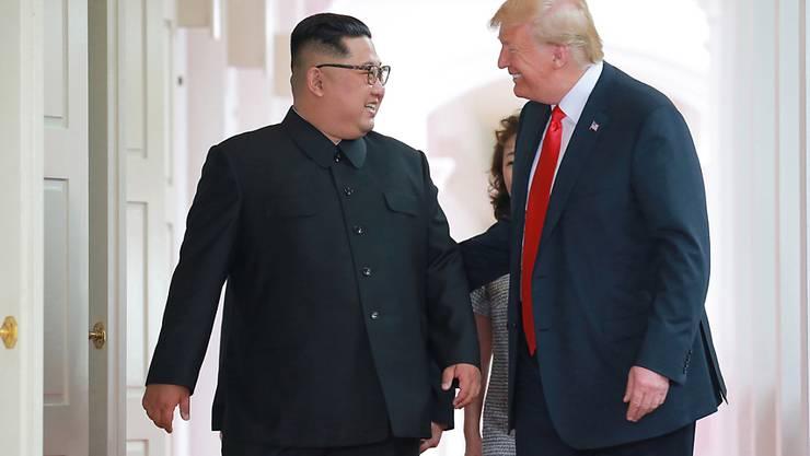 Baldiges Wiedersehen in Washington? Nordkoreas Machthaber Kim Jong Un nahm eine Einladung von US-Präsident Donald Trump an.
