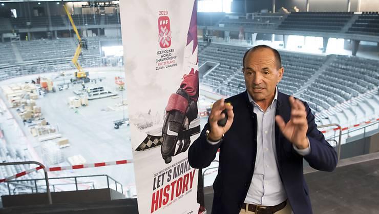 Die Eishockey-WM in der Schweiz mit Geschäftsführer Gian Gilli ist definitiv abgesagt