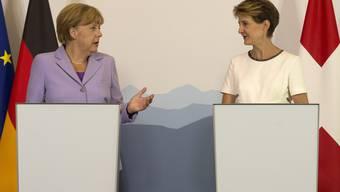 Arbeitsbesuch: Kanzlerin Merkel zu Besuch in der Schweiz