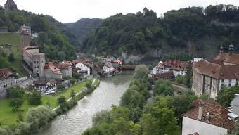 Bei Freiburgs alter Bernbrücke über die Saane wurden die toten Fische entdeckt. (Archivbild)