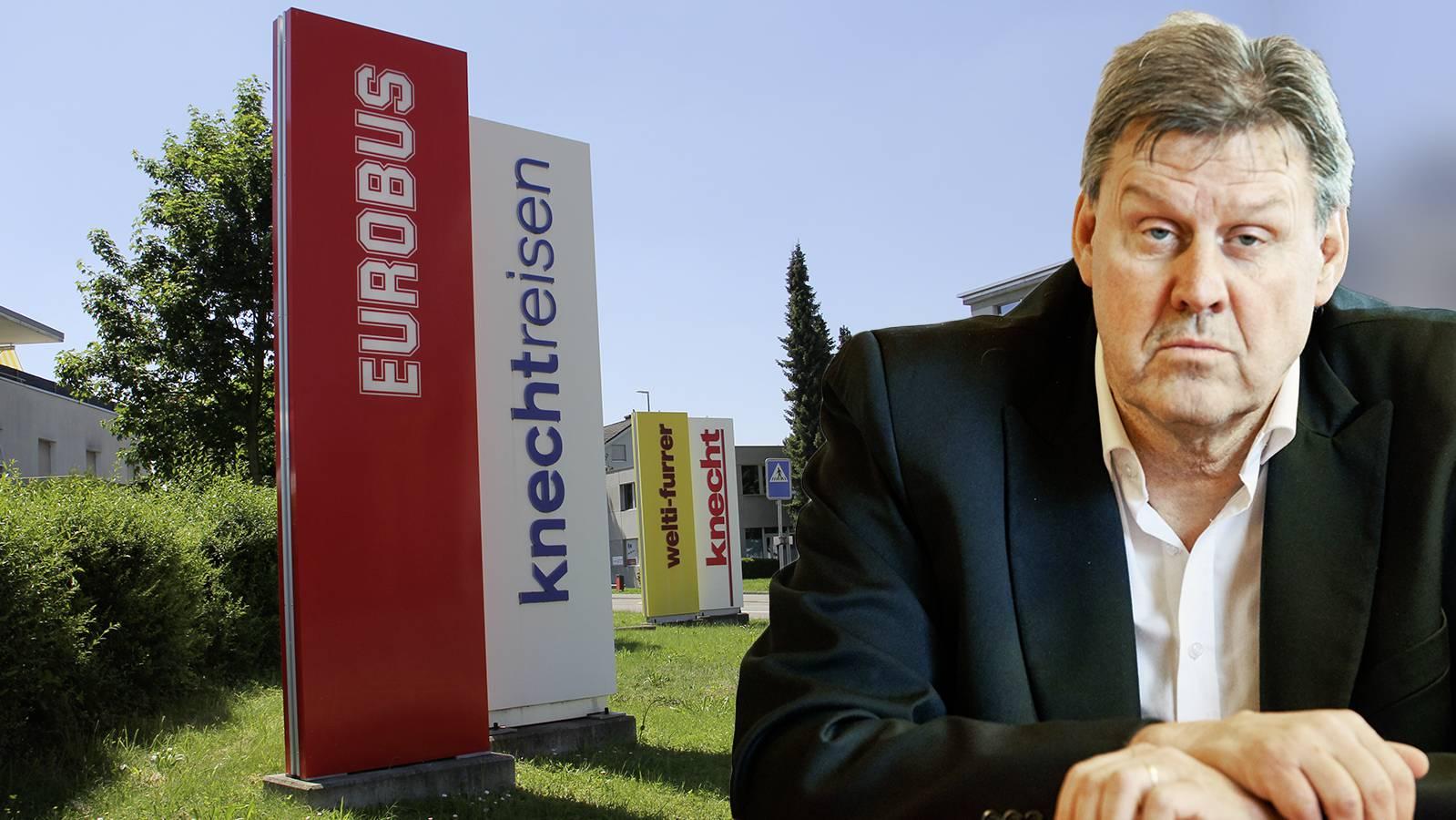Dem Aargauer Reiseveranstalter fehlen die Einnahmen. Rechts im Bild: Knecht-Reisen-Geschäftsführer Roger Geissberger.