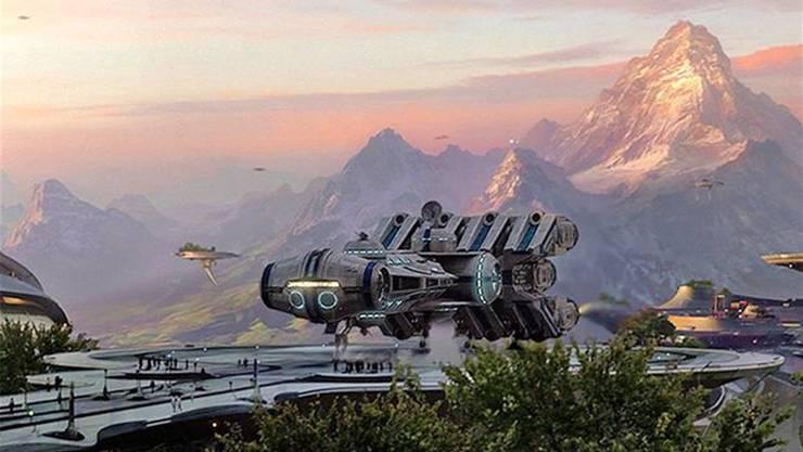 «Star Wars: Episode III» (2005): In einer weit, weit entfernten Galaxis landet ein Raumschiff direkt vor dem (digital leicht veränderten) Matterhorn. Ein kleines Kamerateam war für die Aufnahmen in die Schweiz gereist.