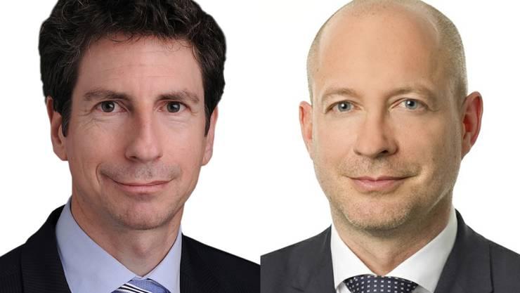 Bernhard Rütsche, Professor für öffentliches Recht und Andreas Wildi, Arzt und Anwalt.