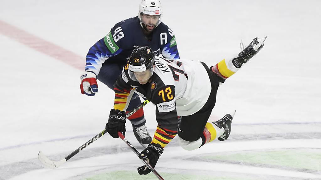 Die Deutschen, im Bild Dominik Kahun, mussten gegen die USA untendurch.