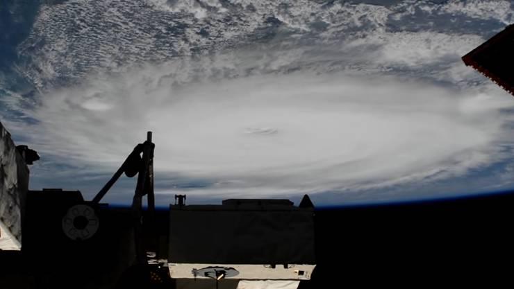 """Der Hurrikan """"Dorian"""" vom Weltraum aus: Die Nasa veröffentlichte dieses Bild, geschossen von Astronaut Nick Hague, der sich derzeit in der Raumstation ISS befindet."""