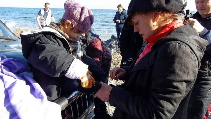 Susan Sarandon heisst auf Lesbos Flüchtlinge willkommen (Archiv)