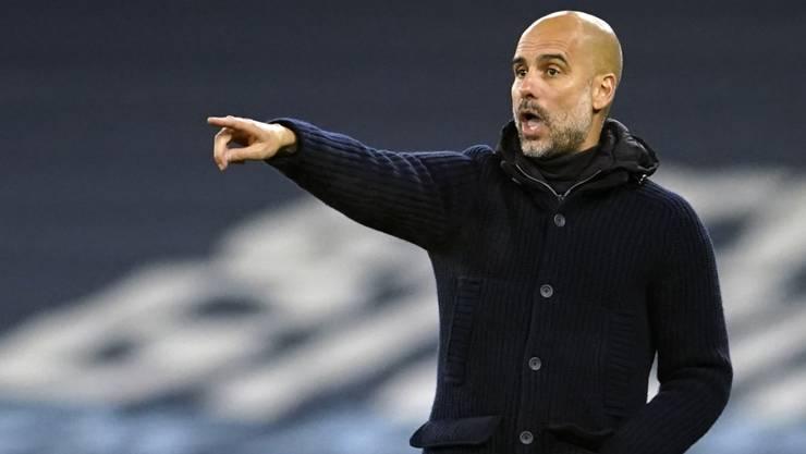 Pep Guardiola dirigiert auch weiterhin bei Manchester City