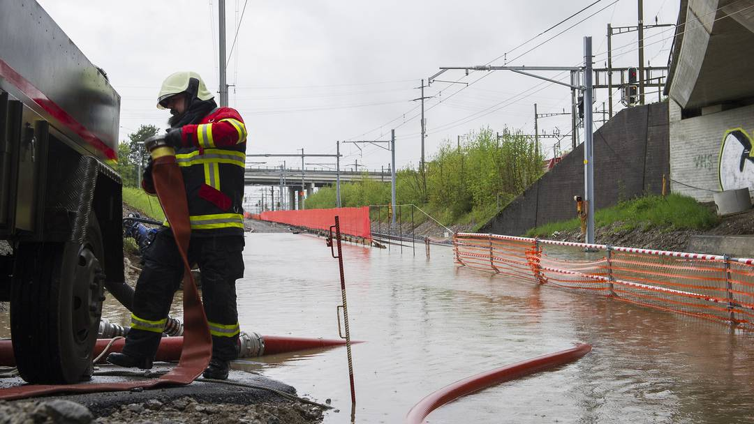 Unwetter sorgt für Überschwemmungen bei Rotkreuz