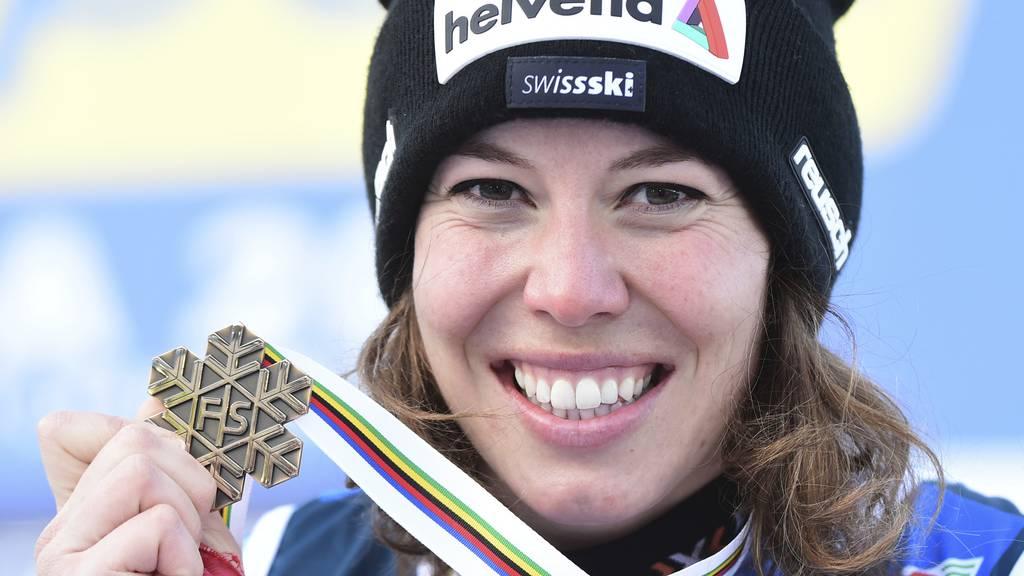 Michelle Gisin gewinnt WM-Bronze hinter Shiffrin und Vlhova