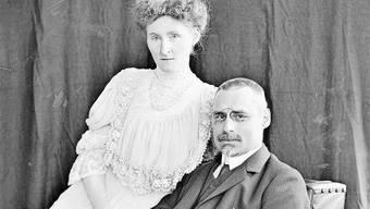 Sie verband eine tiefe Liebe, die weit über seinen Tod hinausging: Jenny und Sidney W. Brown-Sulzer in einer Porträtaufnahme von 1906.