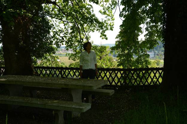 Stadtpräsidentin Jolanda Urech beim Rebhäuschen
