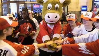 Cooly, das Maskottchen der Schweizer Eishockey-WM, kommt zumindest in diesem Jahr nicht zum Einsatz; klappt es im nächsten Frühling?