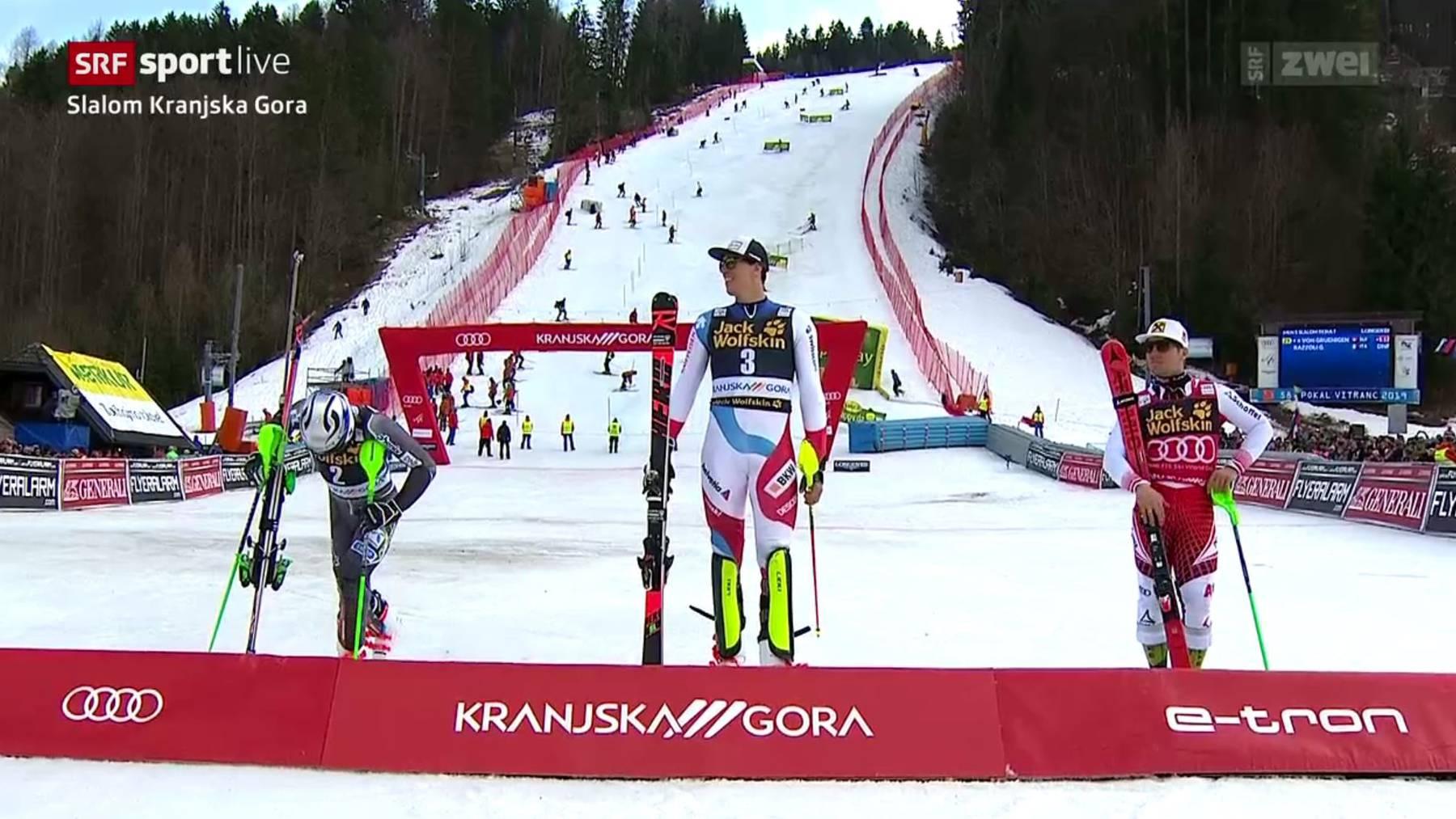 Zenhäusern gewinnt ersten Weltcup-Slalom