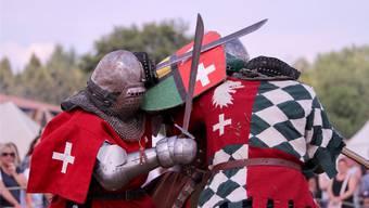 Die mittelalterlichen Ritterspiele sorgen in Wolfwil für Spektakel.