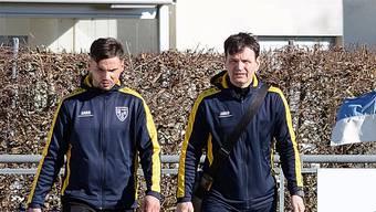 FC-Olten-Trainer Mirko Pavlicevic (rechts) und Assistent Ali Halimi.