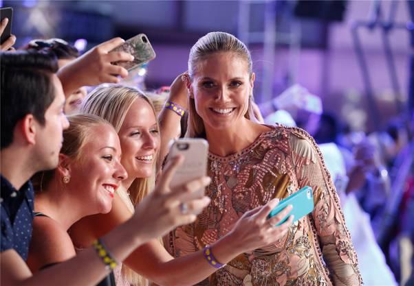 """Heidi Klum ist ein international gefragtes Model und moderiert die Sendung """"Germany's Next Topmodel""""."""
