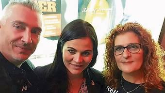 Aktivisten gegen Cybermobbing vereint: Die Eltern von Céline, Candid und Nadya Pfister, mit Ex-Politikerin Jolanda Spiess-Hegglin.
