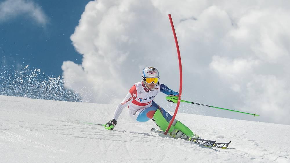 Die Schweizer Skifahrerin Denise Feierabend