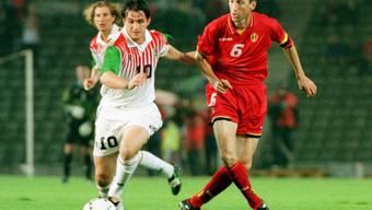 Franky van der Elst während eines WM-Qualifikationsspiels gegen Wales 1997