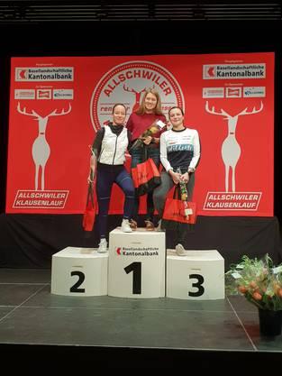 1. Anna Zehnder, 2. Sophie Herzog, 3. Cinija Tempini