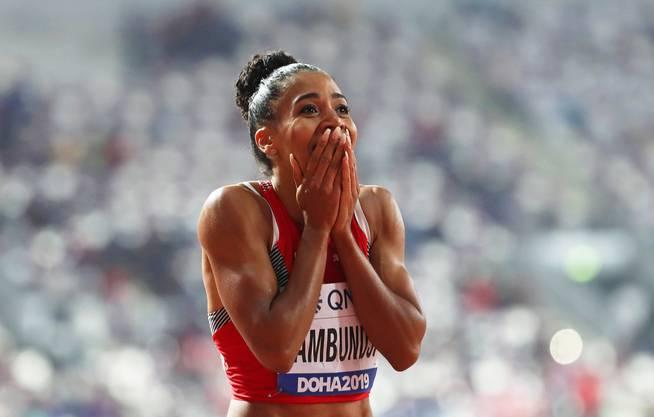 Mujinga Kambundji nach der Sensation an der Leichtathletik-WM in Doha.