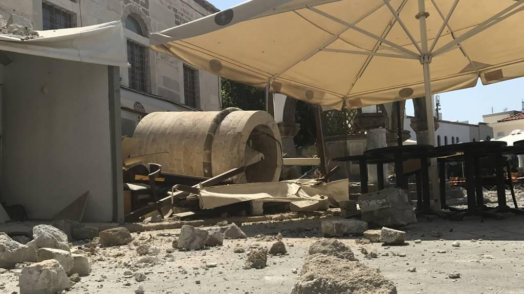 Kos: Ein Tag nach dem Seebeben