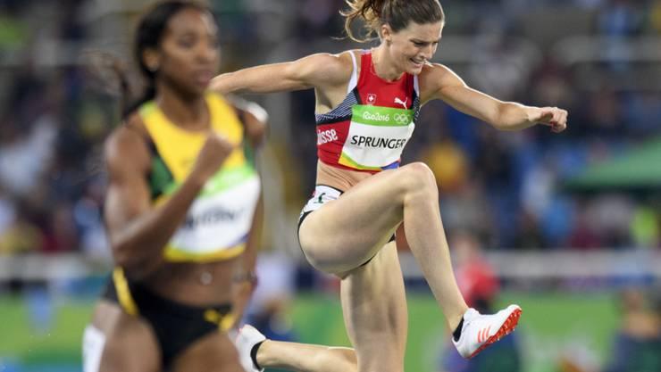 Lea Sprunger missriet der Vorlauf über 400 m Hürden komplett