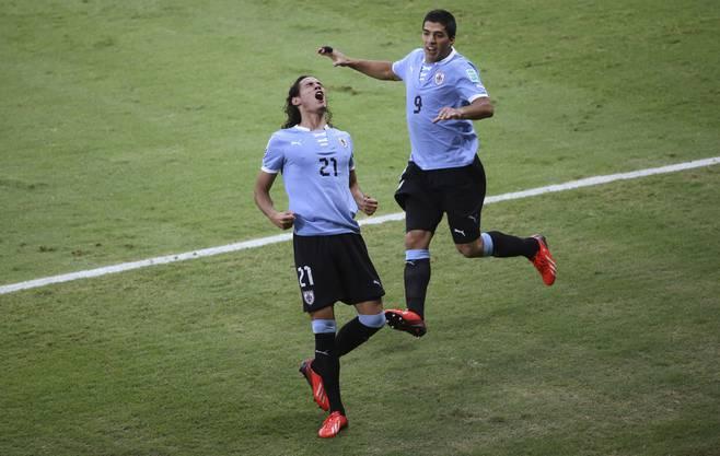 Kongenioales Uru-Sturm-Duo: Edinson Cavani (vorne) und Luis Suarez.