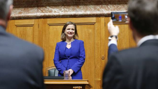Das öffentliche Strahlen täuscht: Nationalratspräsidentin Christa Markwalder sieht sich bis heute als Medienopfer in der «Kasachstan-Affäre». Foto: Keystone