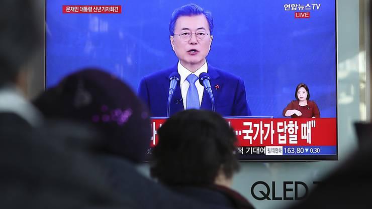 """""""Unter den richtigen Bedingungen"""": Südkoreas Präsident Moon Jae In ist offen für direkte Gespräche mit Nordkoreas Machthaber Kim Jong Un."""