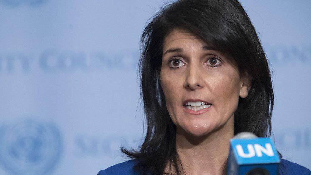 Nikki Haley, US-Botschafterin bei der UNO, will einen echten Friedensprozess zwischen Israel und den Palästinensern fördern. (Archivbild)