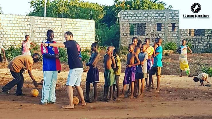 Flurys erstes Training in Afrika - der Beginn einer besonderen Geschichte.