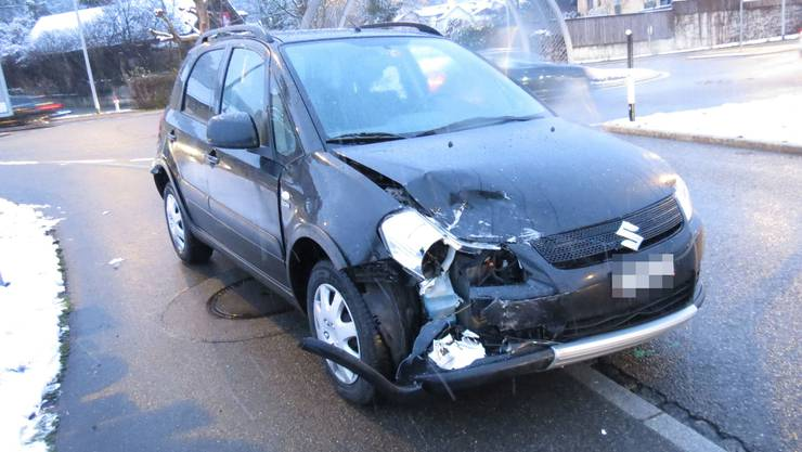 Der Wagen des Unfallverursachers.