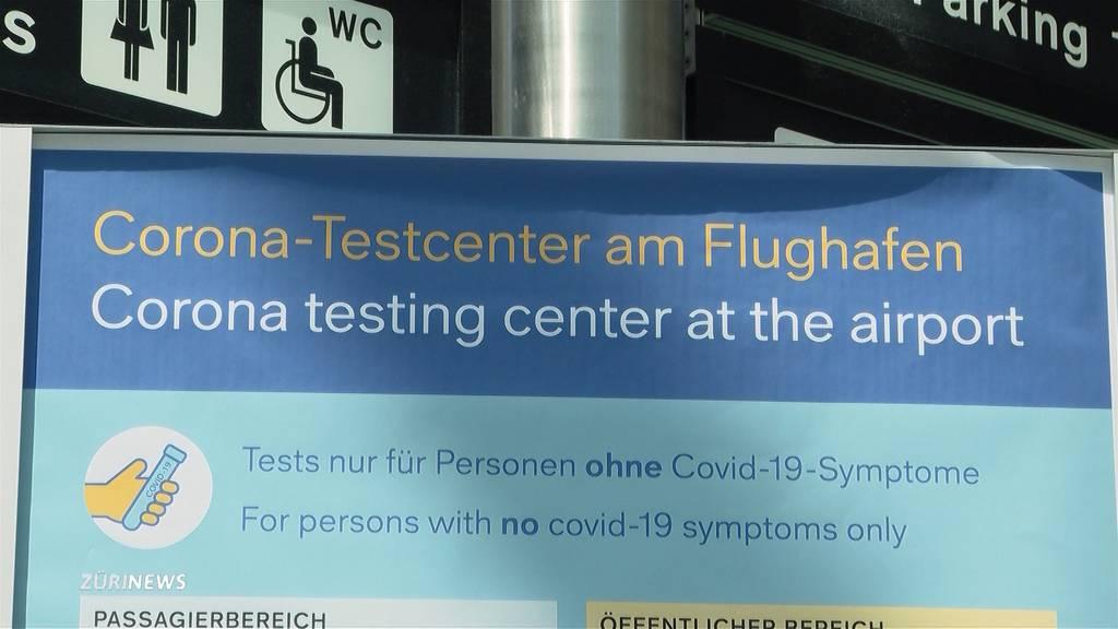 Test-Ansturm am Flughafen Zürich