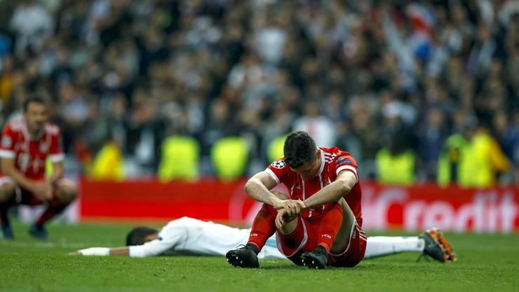 Die Bayern scheiterten nach der 1:2-Niederlage mit dem Gesamtskore von 3:4.