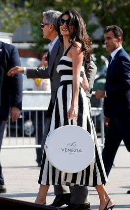 George Clooney und Amal Alamuddin sind am Freitag in Venedig angekommen