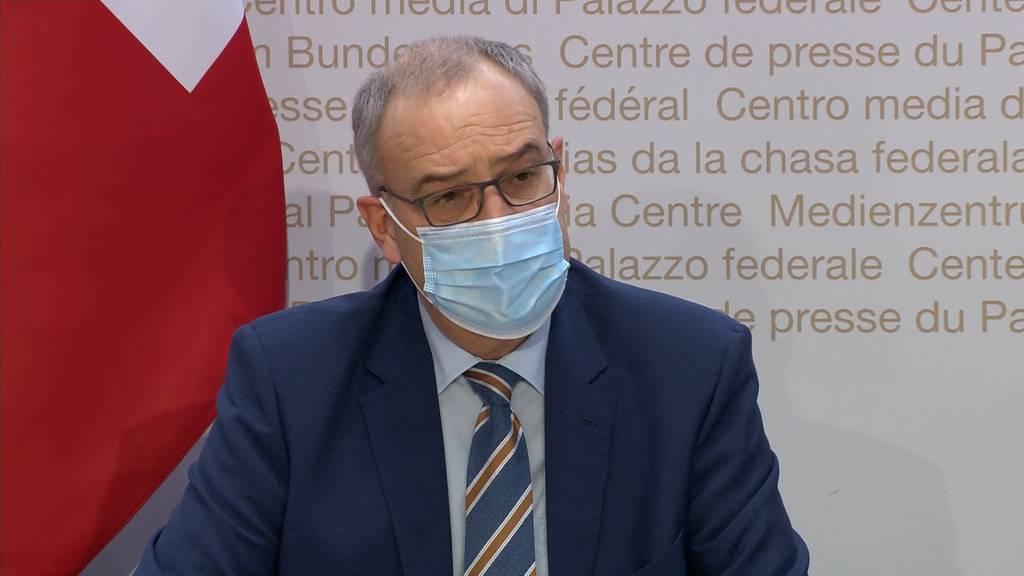 Bundespräsident Guy Parmelin: «Uns ist bewusst, dass viele unter den aktuelle Corona-Massnahmen leiden»
