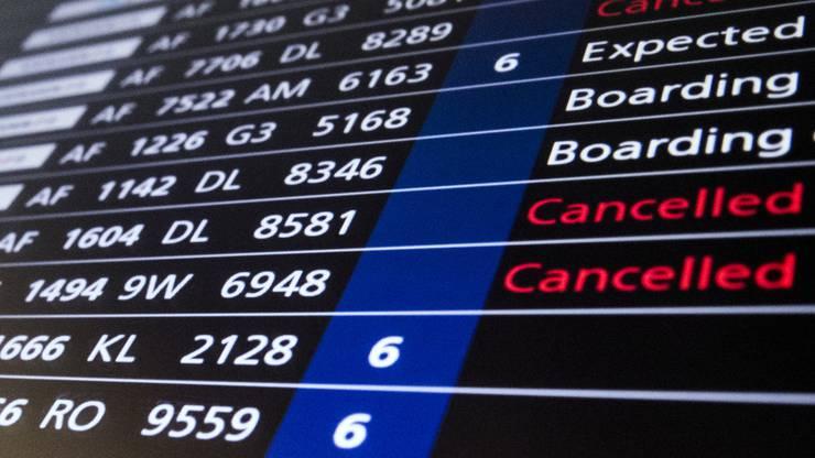 Flüge gecancelled: Air France gibt kein gutes Bild ab.